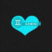 Gemini stjärntecken symbol — Stockvektor