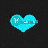 Taurus zodiac symbol — Stock Vector