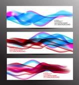 Banners wavy design — Stock Vector
