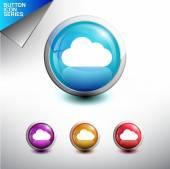 Boutons d'icône nuage — Vecteur