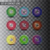 Contact Lenses Collection — 图库矢量图片