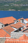 Red roofs of Korcula — Stock Photo