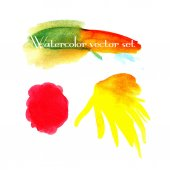 Vector watercolor blotch set — Stock Vector