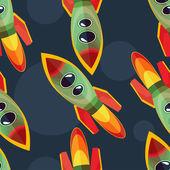 Rocket seamless pattern — Vector de stock