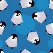 Baby penguin seamless pattern — Vector de stock