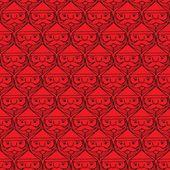 Christmas santa claus faces monotone seamless pattern — Stock Vector