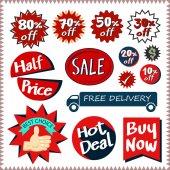 Sale tags banners vector set design concept — ストックベクタ
