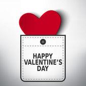 Happy Valentine's day pocket vector design — Stock Vector