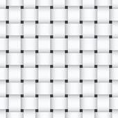 White weaving seamless pattern — Stock Vector
