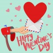 Постер, плакат: Happy Valentines day mail box