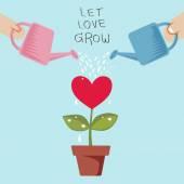 Dejar crecer el amor — Vector de stock