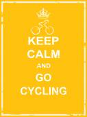 Keep calm and go cycling — Stock Vector