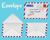 Set of white envelope — Stock Vector