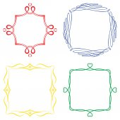Set of nice decorative frames — Stock Vector