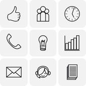 Communication and bussines icons — Stock Vector
