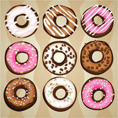 Donut cake background — Stock Vector