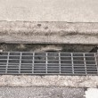Sewer grate water and rain drain — Stock Photo #58948999