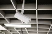 CCTV Security camera wall ceiling — Fotografia Stock
