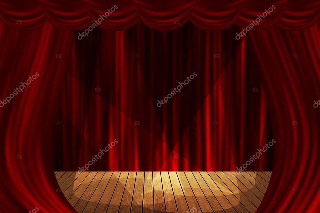 Cortinas de teatro escenario rojo mostrar fondo spotlight - Cortinas para escenarios ...