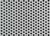 Metal silver Background with Holes. Metal Grid. — Stock Photo
