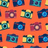 无缝模式的相机 — 图库矢量图片