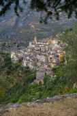 French Riviera, Saorge village: charm of the medieval city — Stock Photo