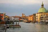 Italy: Venice sunset paint, Grand Canal — Stockfoto