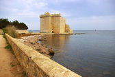 French Riviera, the Lerins Islands : fortified monastery of abbe — Stock Photo