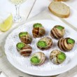 Постер, плакат: Traditional French cuisine: snails sauce Burgundy