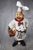 Vintage figurine, French chef — Stock Photo