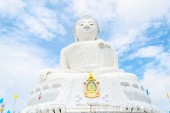 Big white Buddha — Stock Photo