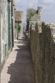 Medieval walls of the village of Capalbio — Stock Photo