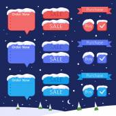 Set of design elements - sale and buy (winter holydays) — Stock Vector