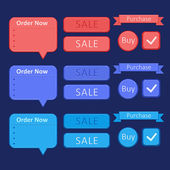 Set of design elements - sale and buy — Stock vektor
