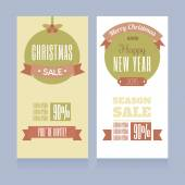 Templates for banners- Christmas sale — Vettoriale Stock