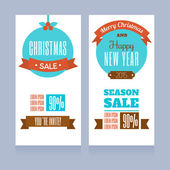 Templates for banners- Christmas sale — Stock Vector