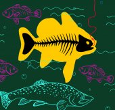 Caught fish — Stock Vector