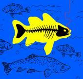 On bait fish — Stock Vector