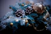 Christmas new year decorations tree toys — 图库照片
