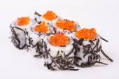 Sushi roll in nori with caviar — Stock Photo