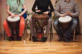 Group of Jambe drummers playing  — Fotografia Stock