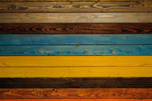 Color full wood texture  background colorfull panels — Stock Photo
