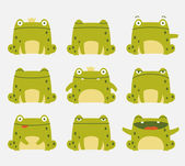 Cute frogs — Stock Vector