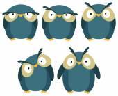 Mavi baykuş — Stok Vektör