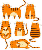 Red cats — Stock Vector