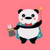 Panda magician — Stock Vector