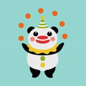 Panda juggler — Stock Vector