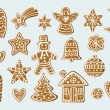 Set with gingerbread figures — Stock Vector #60123737