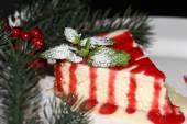 Christmas cheesecake — Foto de Stock