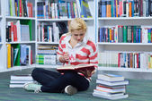 Beautiful  student studying — Stock Photo